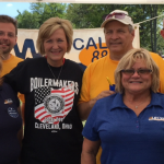 Endorsed candidate Betty Sutton celebrates Union Workers on Labor Day with Local 880 (L-R J. Adam, G.Owen, Betty Sutton, C. Ivka, J. Sadowski, C. Hartman